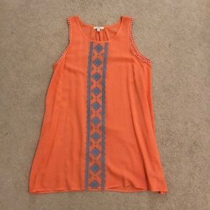 Kori orange embroidered dress